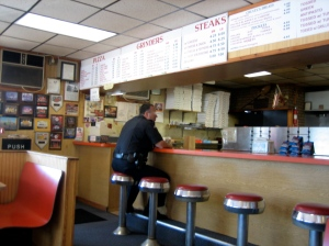 Almost every time I stop in, there's a police officer eating at the counter.