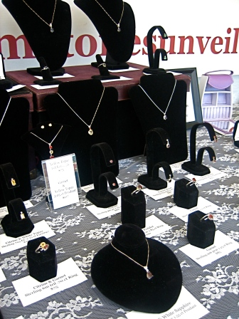 Jewelry offerings at Gemstones Unveiled