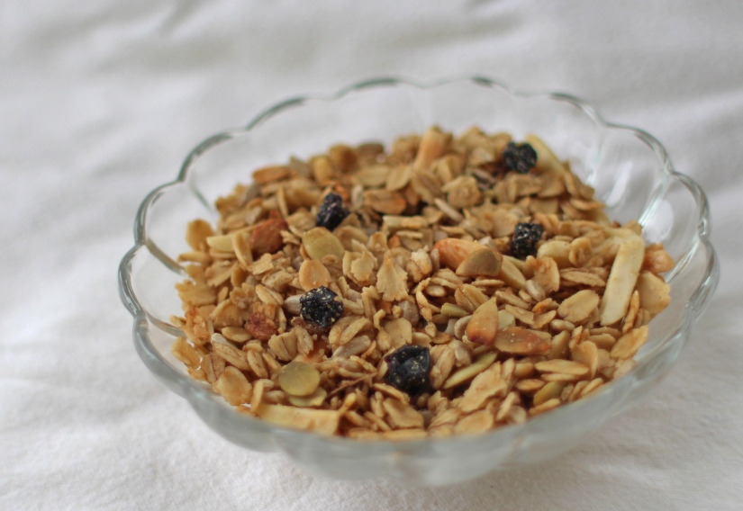Mmmm, healthy, gluten-free, vegan, all-natural granola!