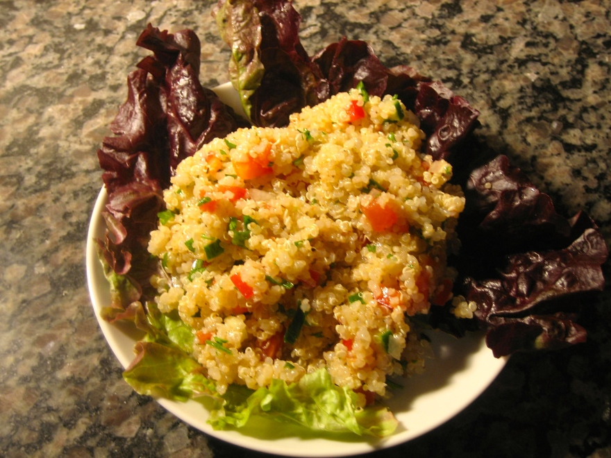 quinoa variation on tabouli