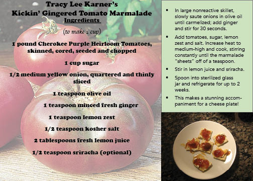 Tracy Lee Karner's Kickin' Gingered Tomato Marmalade