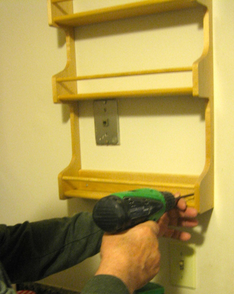 Install a spice rack.