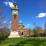 On campus at Brown University.